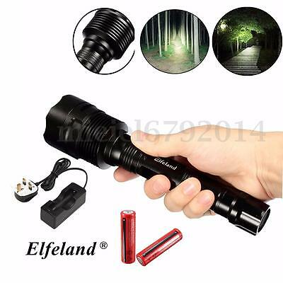Power 10000LM 3x T6 LED Flashlight Torch Lamp Light+ 18650 battery+ Charger