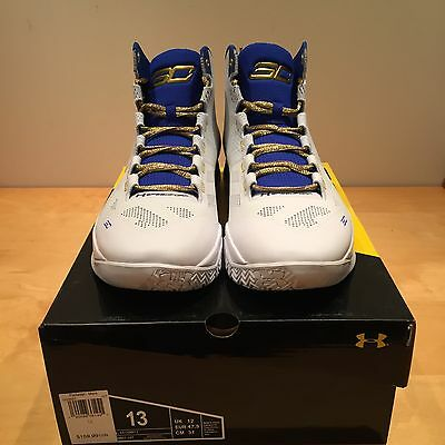 """DS Under Armour Curry 2 """"2 Rings"""" Size 13 Brand New. Warriors Dub Nation"""