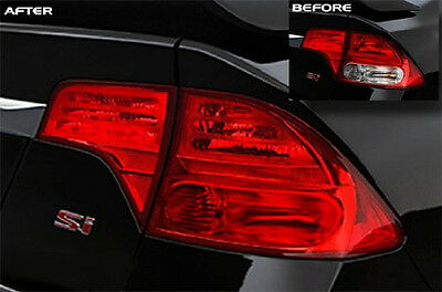 "16"" x 48"" Red Car Headlight Tail Light Sidemakers Tint Vinyl Film Sticker Cover"
