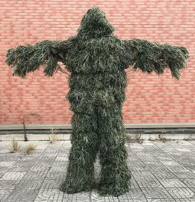 5pcs/set Camouflage Ghillie YOWIE SNIPER Tactical Camo Suit for Hunting Birding