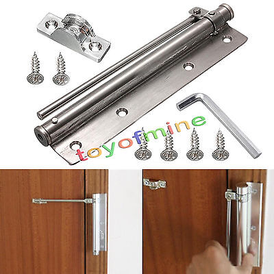 """7.6"""" Adjustable Stainless Steel Mounted Auto Closing Door Closer Fire Rated US"""