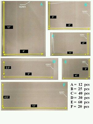 OPP Plastic Sleeve with 6 Different Sizes [Combo Set -Small Pack] for Stamp & Ms