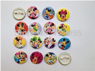 Lot Mickey & Minnie Mouse 30MM Badges,Brooches Birthday Party Favours 3cm