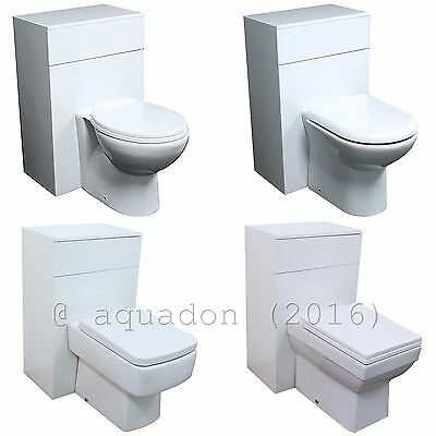 Venice Bathroom Cloakroom Back to Wall Unit, WC Toilet Pan, Cistern, Seat