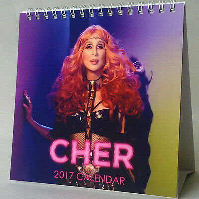 Cher Desktop Calendar 2017 Dressed to Kill D2K Closer to the Truth Woman's World