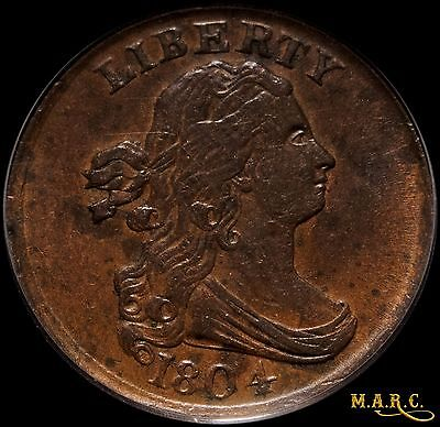 1804 XF45 PCGS 1/2C Draped Bust Half Cent, Nice Detail!! Free Shipping, MARC