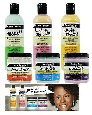 Aunt Jackie's Curls & Coils Moisturising Hair Care Styling Products Shea Butter