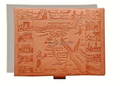 Huge Egyptian Genuine Leather Jewelry Box Horus Offering Hand Made In Egypt