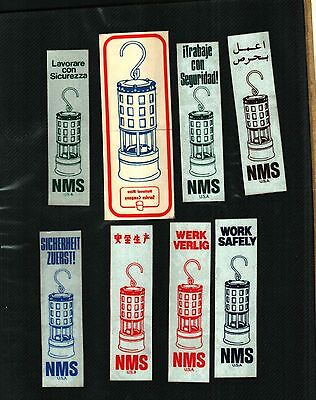 8 Different Nice (Set) National Mine Service Coal Mining Stickers # 311