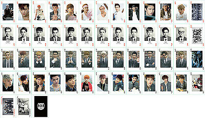 54pcs / 1 Box Kpop EXO XOXO Collective Photo Picture Cards / Poker Poker Playing