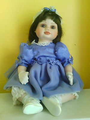 Marie Osmond Olive May Sunday Best Porcelain  Doll Coa In Original Box