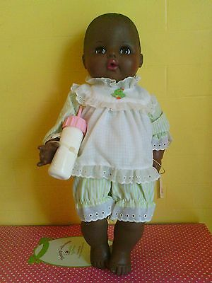 Vintage RARE Black Version 1983-Ideal-16 inch-Betsy-Wetsy-Doll