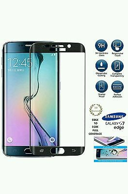 Samsung Galaxy S7 Edge  BLACK Tempered Glass Screen Protector 9H 3D Guard Film