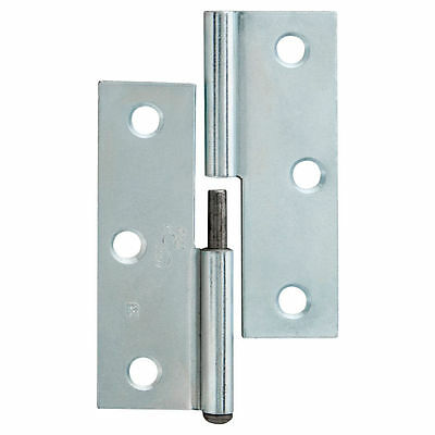 Trio LIFT OFF BUTT HINGE Right Hand Indoor Steel Zinc Plated 8.5x6x.16cm