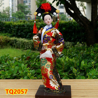 "12"" Chinese Qing Dynasty Princess Beauty Asian Doll Handicraft Artwork-TQ2057"