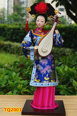 "12"" Ancient Chinese Beauty Doll Qing Dynasty Princess Asian Lady artwork-TQ2003"