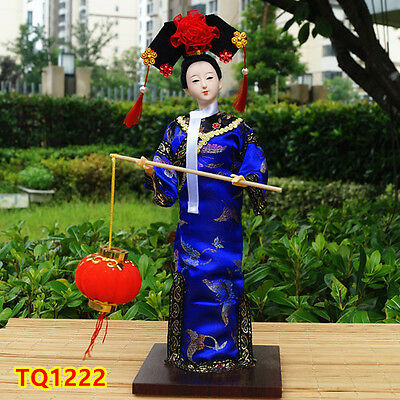 "12"" Ancient Chinese Beauty Asian Doll Qing Dynasty Princess Collectible-TQ1222"
