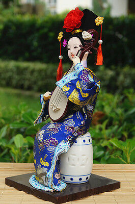 """12"""" Ancient Asian Chinese Doll Qing Dynasty Princess Figure Dollhouse-TQ2034"""