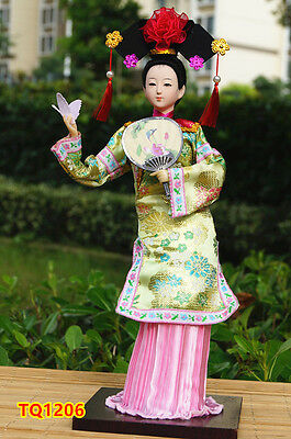 "12"" Ancient Chinese Doll Beauty Qing Dynasty Princess Lady Dollhouse -TQ1206"