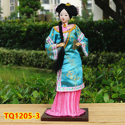 "12"" Ancient Chinese Beauty Doll Qing Dynasty Princess Dollhouse HANDMADE -TQ1205"