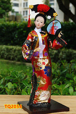 "12"" Ancient Chinese Beauty Doll Figurine Qing Dynasty Princess HANDMADE-TQ2054"