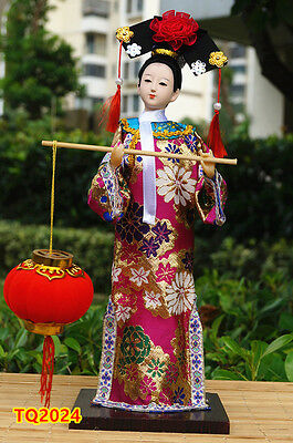 "12"" Ancient Chinese Beauty Doll Qing Dynasty Princess Figurine Dollhouse-TQ2024"