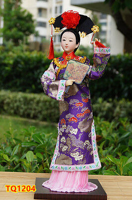 "12"" Ancient Chinese Beauty Doll Qing Dynasty Princess Lady Dollhouse-TQ1204"