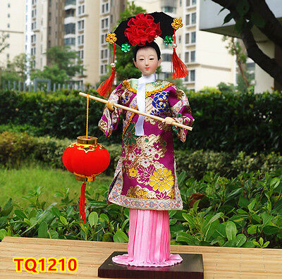 "12"" Ancient Chinese Doll Qing Dynasty Princess Figurine Dollhouse-TQ1210"