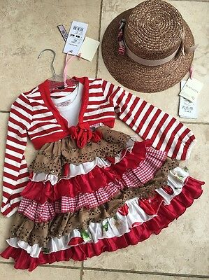 Monnalisa Dress Cardigan And Hat All Brand New Girls Designer Age 2 Age 3