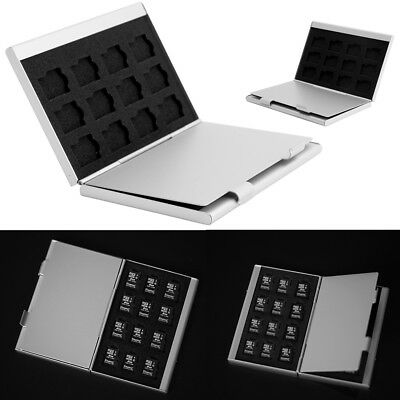 24 Micro SD TF Aluminum Memory Cards Protector Holder Case Box With Label Hot