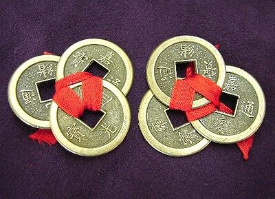 2 Sets of Chinese Wealthy Lucky Money Coins Feng shui Fortune coins