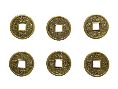 6 of Feng Shui Chinese I Ching Double Dragon Money Lucky Coins