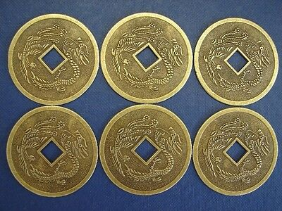 6 of Chinse Feng Shui I Ching Money Lucky Dragon Phoenix Coins