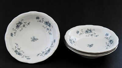 Johann Haviland Vintage Bavaria Blue Garland 3 Fruit/Dessert Sauce Bowls Germany