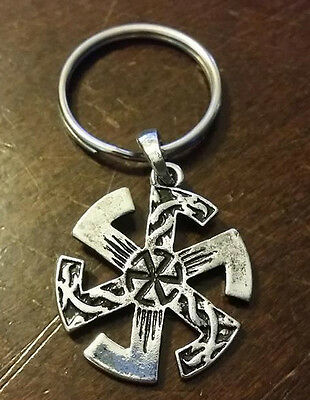 BLACK SUN Occult symbol WICCA WICCAN Witch Witches keychain key chain ring