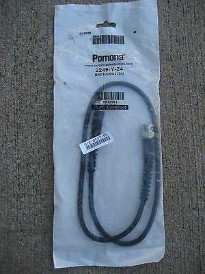 NEW POMONA ELECTRONICS 2249-Y-24 COAXIAL CABLE ASSEMBLY BNC RG223/U, 50 ohm