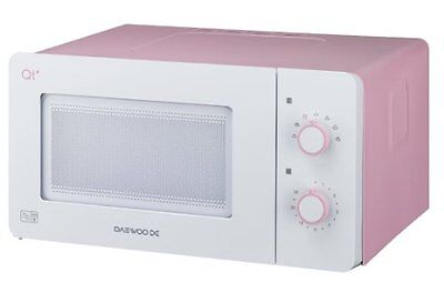 Daewoo QT3 Compact Microwave Oven, 14 L, 600 W - White Pink