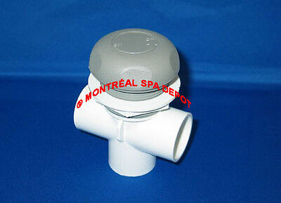 "Waterway spa hot tub 1""slip ON/OFF TURN VALVE DUAL-port # 600-4377 gray cover"