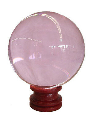 80mm Feng Shui Pink Round Crystal Sphere Ball