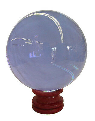 80mm Feng Shui Light Purple Round Sphere Crystal Ball