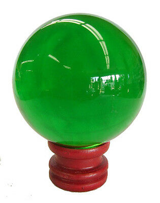 60mm Feng Shui Green Crystal Sphere Round Ball