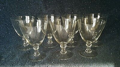 Lot set of 7 delicate Beautiful Champagne Glasses  Fancy Shabby Chic Wine