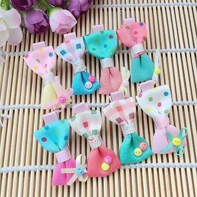 Dog Grooming Hairpins Pet bow Hair Clips Puppy cat boutique beads Hair Clips