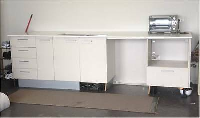 20mm Stone Bench Top Kitchen with Sink and 2 x Wall Cabinets for sale