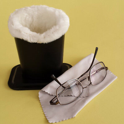 Black Color Plush Eyeglass Stand Holder with Cleaning Cloth*