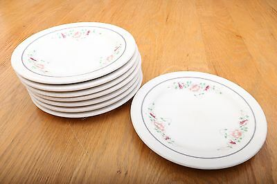 """8 Homer Laughlin Salad Plates AAA-11 6 1/4"""" Flower Pattern Vintage Made In USA"""
