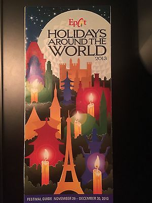 Disney Epcot Holidays Around The World 2013 Brochure Guide Map