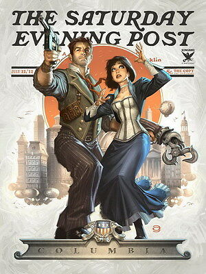 """006 Bioshock Infinite - First Person Shooter Video TV Game 14""""x19"""" Poster"""