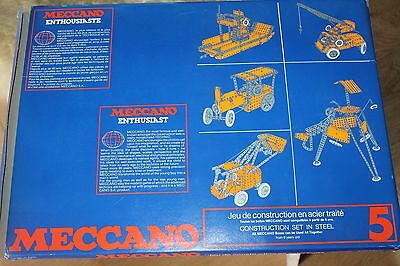 Meccano Enthusiasts 5  * Metallbaukasten  *  Original Meccano * Ovp * 1978