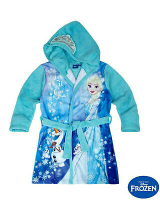 Disney Frozen Eiskönigin Bademantel Plüsch Fleece 104 / 116 / 128 / 140 NEU